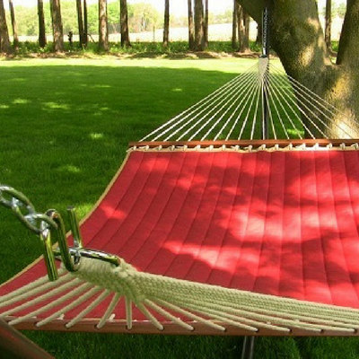 Hammocks can cause damage to your trees in the long run.