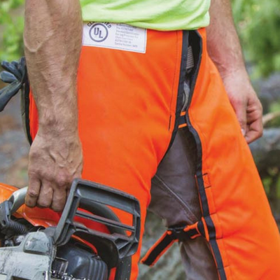 Chainsaw chaps are like a coat of armor for an arborist.