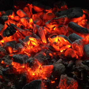 An essential part of fireplace safety is properly cleaning out the chimney and fireplace, be careful of the hot coals!