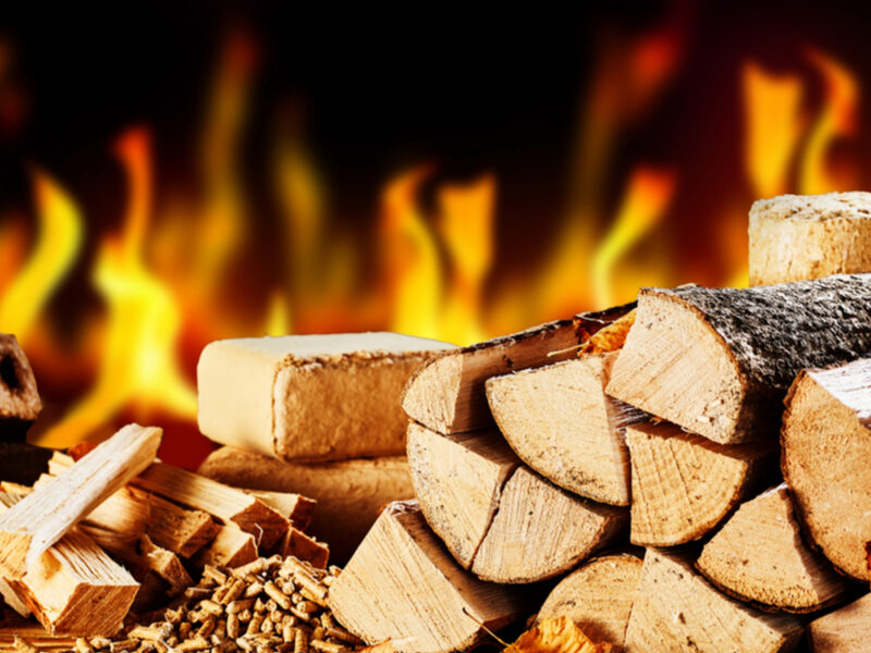 firewood and fire